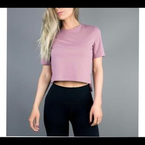 Sold out Women's high low crop top Mauve